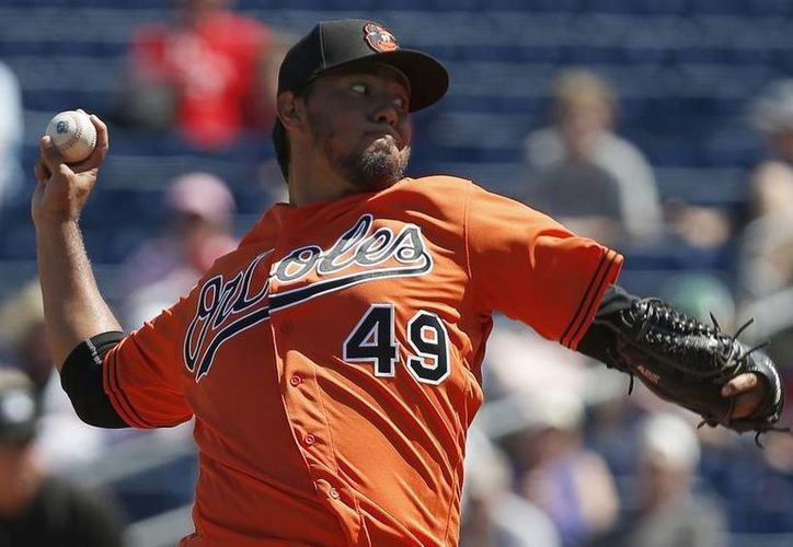 El mexicano Yovani Gallardo está listo para iniciar la Temporada 2016 de la MLB en el montículo de los Orioles de Baltimore. (Imagen tomada de Usa Today Sports)