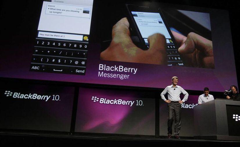 En enero, Blackberry dio a conocer sus nuevos modelos de celulares y sistema operativo. (Foto: Agencias)