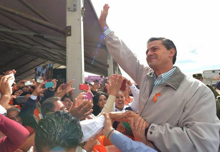 El presidente Enrique Peña Nieto inauguró el Centro de Justicia para las Mujeres en Pachuca, Hidalgo. (Foto Notimex)