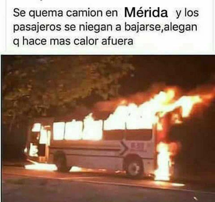 Cuando el fuego es más frío que el calor de Mérida