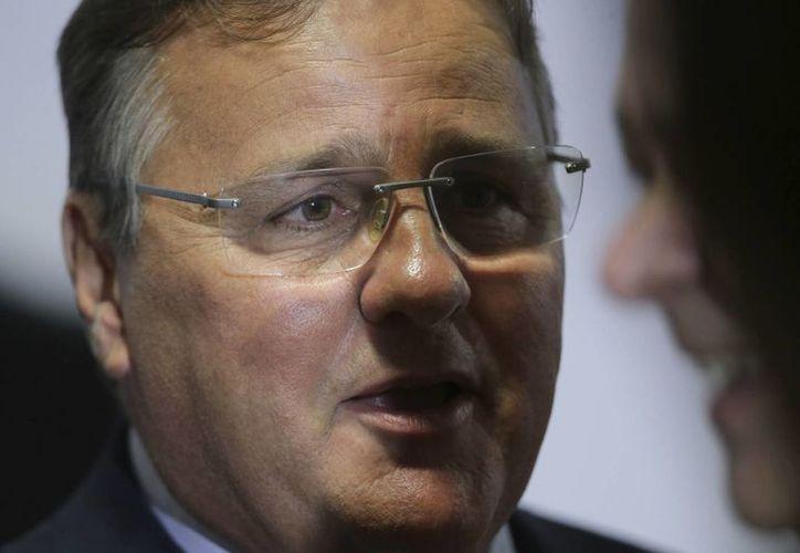 El ministro de asuntos legislativos de Brasil, Geddel Vieira Lima, quien dejó el cargo por un escándalo de tráfico de influencias. (AP/Eraldo Peres)