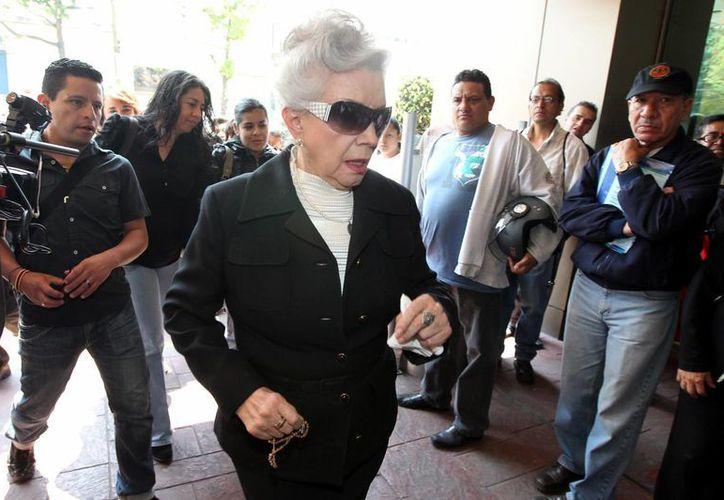La actriz Evangelina Elizondo fue destituida, en octubre de 2012, de su cargo como secretaria de Trabajo y Conflictos de la ANDA por supuestas irregularidades en su gestión. (Archivo Notimex)