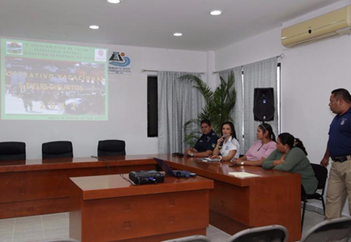 Las autoridades del Ayuntamiento presentaron el plan del operativo. (Cortesía)