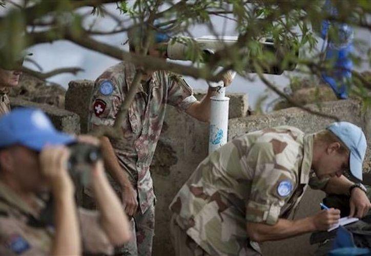 Imagen de cascos azules de Naciones Unidas durante un operativo en Siria. Imagen de contexto. (Agencias/Archivo)