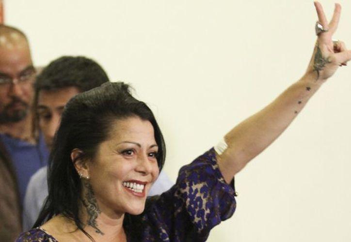 La rockera Alejandra Guzmán fue operada en la cadera. (Foto Archivo/Notimex)