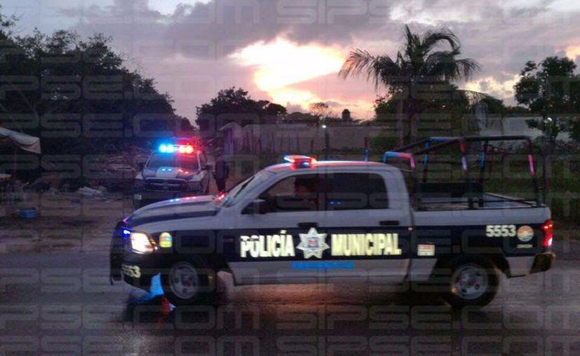 Se reportó al número de emergencias 911, una persona lesionada con arma de fuego en la Región 237. (Orville Peralta/SIPSE).