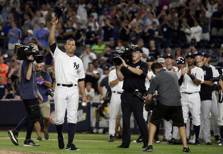 Alex Rodríguez conectó uno de los imparables de la victoria de los Yankees. El tercera base suma 696 cuadrangulares.(Kathy Willens/AP)