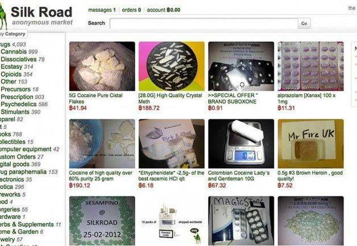 Detalle de la página principal del sitio web Silk Road, clasurado por las autoridades de Estados Unidos. (Internet)