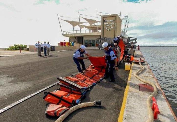 La Terminal Marítima de Chetumal es el punto de partida de las acciones de salvamento. (Foto: Contexto/ Redacción)