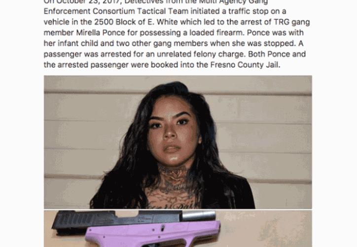 La joven pertenece a la pandilla Tiny Rascal Gang (TRG). (Foto El Debate)