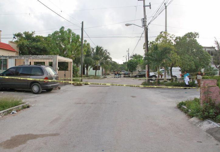 El ataque fue la mañana de ayer, en el fraccionamiento Villas Otoch. (Redacción/SIPSE)