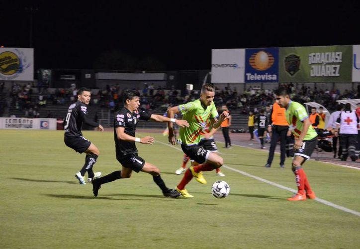 Venados de Yucatán se llevó un 4-0 de Ciudad Juárez, por lo que prácticamente esta fuera de la liguilla a falta de una jornada del torneo regular. (Venadosfc.com)