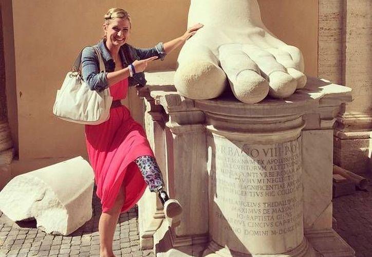 Rebekah dejó en claro que nada la limita para seguir su más grande pasión: correr.  (Instagram.com/rebekahbstrong)