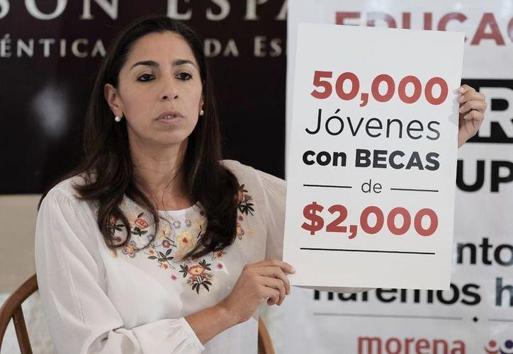 Marybel Villegas Canché, candidata al Senado de la República denunció públicamente los 'malos manejos' del Congreso del Estado. (SIPSE)