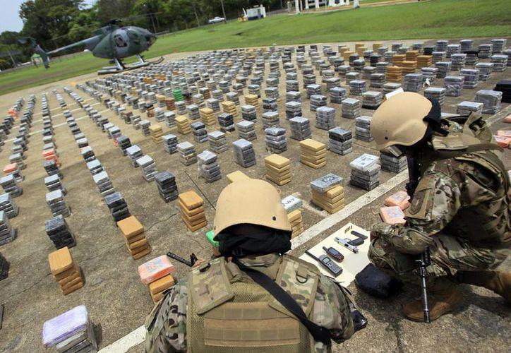 En lo que va de 2013, en Panamá se han incautado más de 10 toneladas de drogas. (EFE)