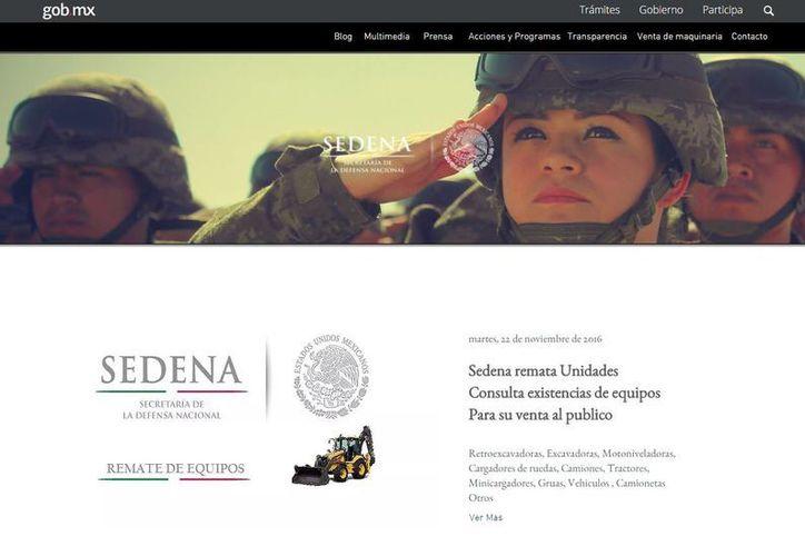Captura de pantalla de la página web falsa de la Sedena. (www.sedena-gob.com)