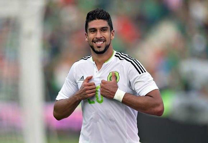 Eduardo Herrera, de Pumas, es el único de los tres delanteros con que abrirá México vs Brasil que no juega en Europa. (mediotiempo.com)