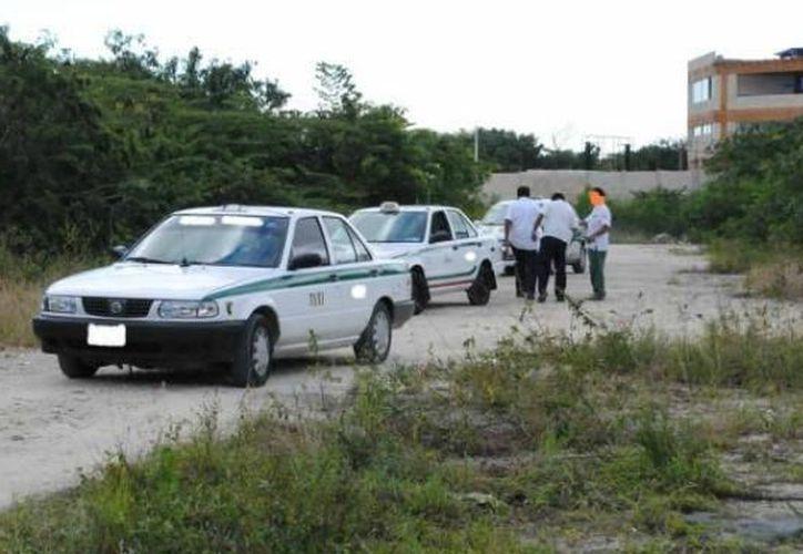 Los delincuentes utilizan taxis para darse a la fuga. (Eric Galindo/SIPSE)
