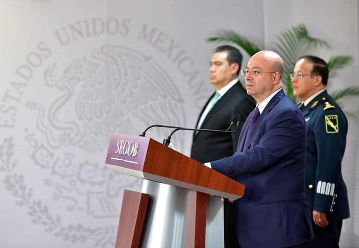 El comisionado Nacional de Seguridad, Renato Sales Heredia, dio a conocer la captura de Inés Enrique Torres Acosta, el número 100 de los 122 objetivos prioritarios establecidos por el gobierno de la República. (Notimex)