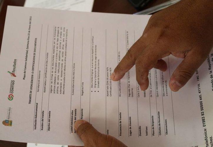El apostillado de documentos ya se puede solicitar desde Playa del Carmen. (Adrián Barreto/SIPSE)