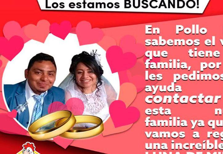 """La empresa posteó una foto, para regalarles a los novios """"una increíble LUNA DE MIEL!"""". (Foto: Facebook)"""