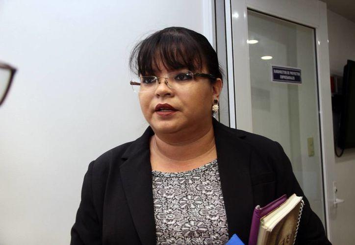 Imagen de Ana Mandujano Marroquí, directora de Punto para Mover a México Canaco Mérida, quien habló sobre el interés de los emprendedores por el cuidado del medio ambiente. (Jorge Acosta/Milenio)
