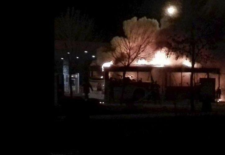 El autobús fue atacado  en Yinchuan, la capital de la región de Ningxia. (Reuters)