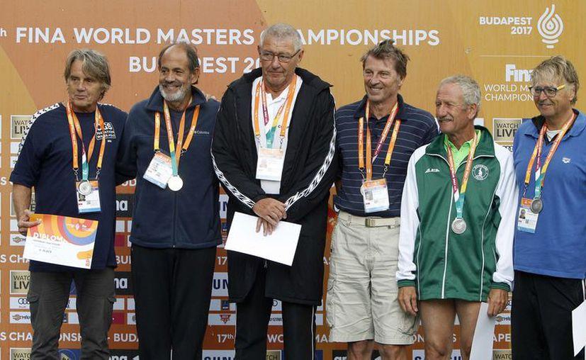 Algunos de los ganadores en el Campeonato Mundial de Natación Masters FINA 2017 en Budapest. (Facebook oficial de Masters FINA 2017 en Budapest).