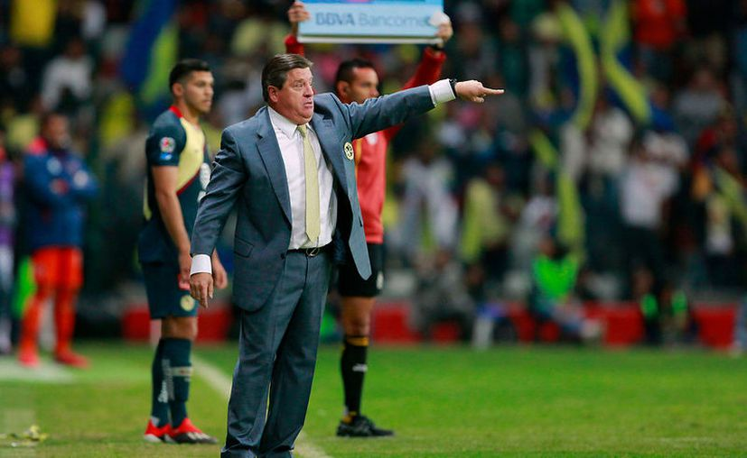 """""""En este equipo sino eres campeón vas a la evaluación de los directivos"""", afirmó Miguel Herrera. (Jammedia)"""