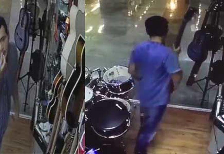 Las cámaras de seguridad del lugar, captaron el momento del robo. (Redacción/ SIPSE)