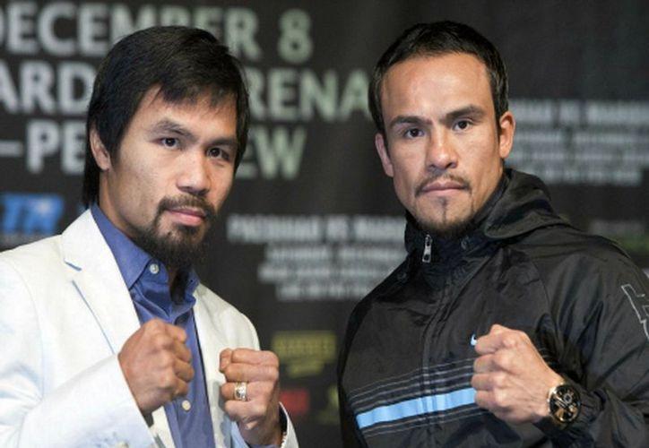 Juan Manuel Márquez y Manny Pacquiao se dijeron listos para enfentarse en el ring el próximo 8 de diciembre. (Reuters)