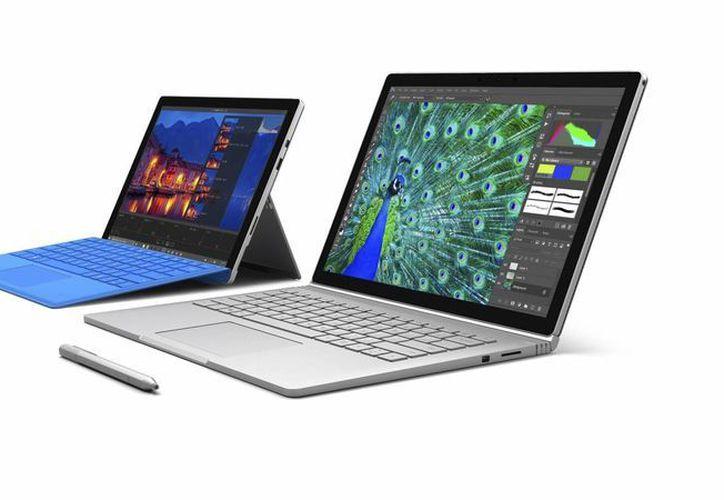 """Microsoft lanzó dos modelos de computadoras de la familia """"Surface"""": Surface Book y Surface Pro 4. Estarán disponibles a finales de octubre. (EFE)"""