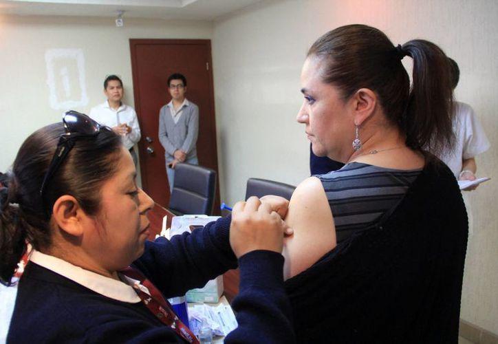 Hasta ahora se han aplicado en México 19 millones de vacunas contra el virus de la influenza. (Notimex)