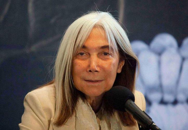 La viuda de Jorge Luis Borges, María Kodama (foto), demandó al sitio web Taringa! por violar derechos de autor de la obra del creador argentino. La justicia no le dio la razón. La imagen es de 2012 (Archivo/AP)