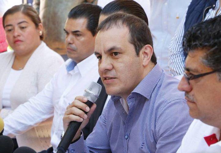 Ante los medios, Blanco subrayó que no tiene ningún caso mantener un esquema de colaboración con el gobierno del estado. (twitter.com/cuauhtemocb10)