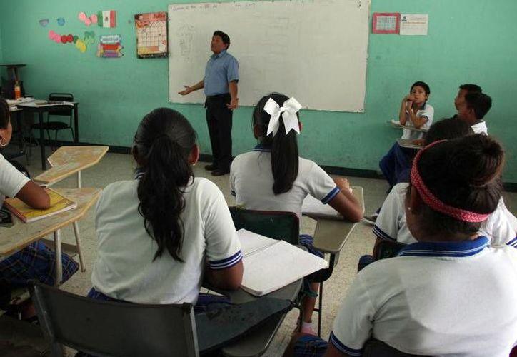 Los maestros de educación básica deberán aprender el idioma inglés. (Foto: Milenio Novedades)