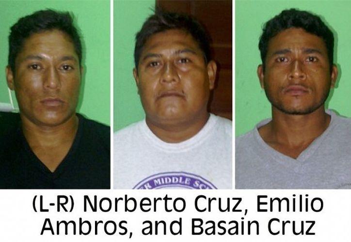 Los tres detenidos responden a los nombres de Basain Cruz, Ambrosio Emilio y Norberto Cruz; están acusados de pesca ilegal. (Redacción/SIPSE)