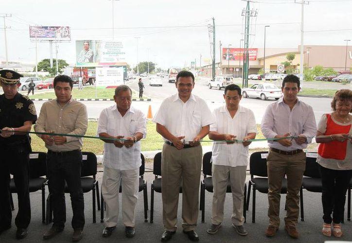 Ayer se entregaron las obras de ampliación de la principal entrada a Ciudad Caucel. (Cortesía)