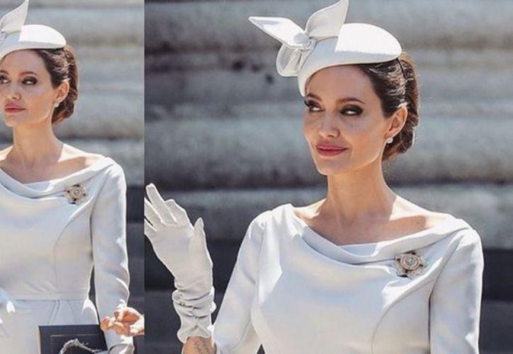 El día que Jolie lució como toda una reina. (foto: Instagram)
