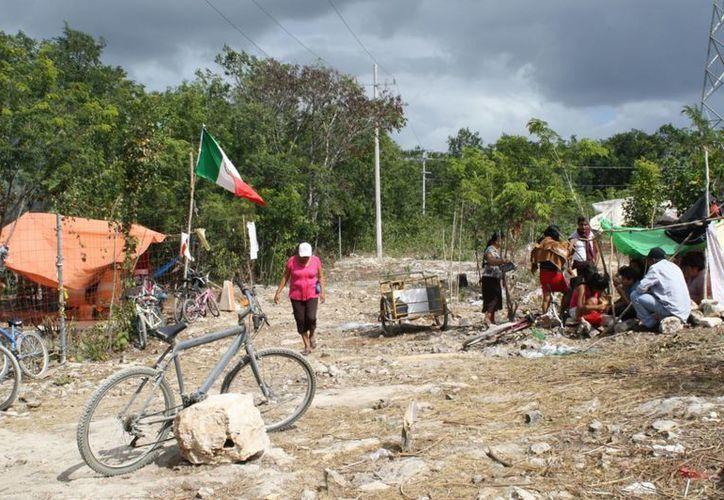 La invasión de los terrenos se realizó hace cuatro meses. (Alida Martínez/SIPSE)