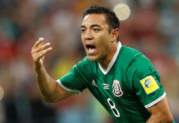 En el partido contra Alemania, fue el único mexicano en hacer una anotación. (Reuters)
