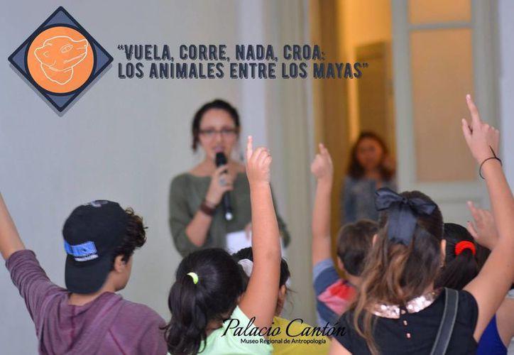 El taller que se realizó hoy se enfocó en la importancia de las aves en la cultura maya. (Milenio Novedades)