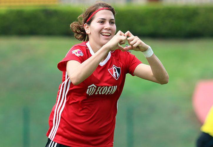 Alicia Cervantes fue goleadora del equipo, en el torneo pasado con nueve anotaciones. (Foto: Mediotiempo)