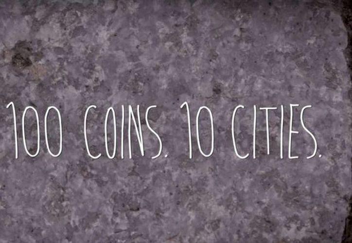 La moneda no es legal y forma parte de una campaña promocional bautizada como el 'Centavo de la Suerte'. (Captura de pantalla/YouTube)
