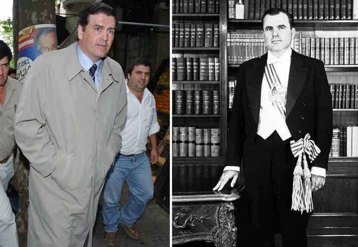 Pedro Bordaberry (izq) al salir de la cárcel donde se encuentra su padre, el expresidente convertido en dictador Juan María Bordaberry. (Agencias)