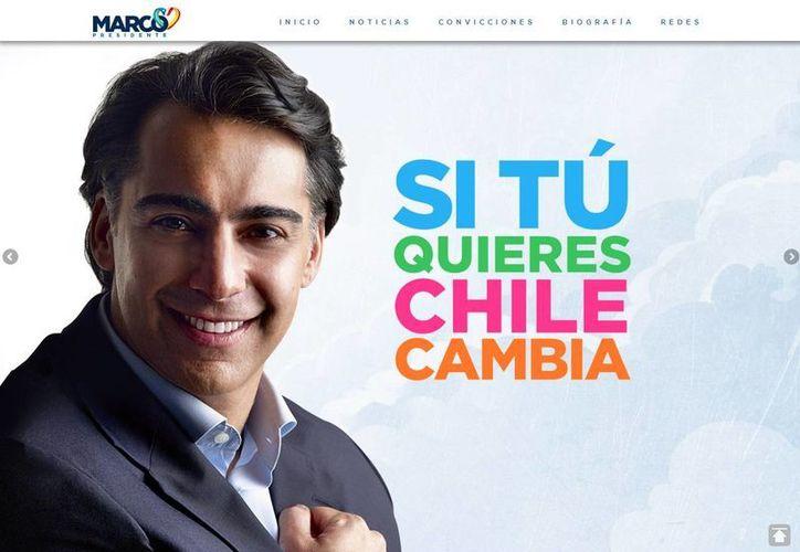 Enríquez-Ominami Gumucio es candidato del PRO, del Socialismo Allendista y del Partido Liberal, entre otros movimientos chilenos.(marco2014.cl)