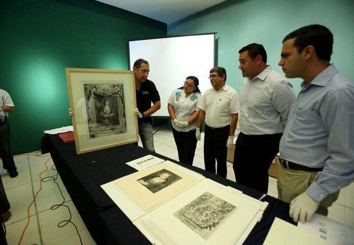 Olimpo 'recibió' las obras de Alberti, Naranjo, Goya y Dalí que se expondrán a partir del 27 de junio. (Milenio Novedades)