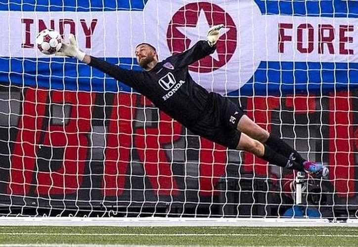 El arquero Kriatian Nicht, del Indy Eleven de la Segunda División del fútbol norteamericano, fue transferido al cuadro de Montreal para estar en la final de la Concachampions ante América. (Foto: NASL)