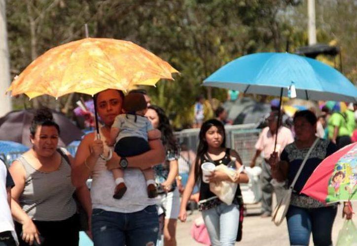 Este día se pronostican temperaturas máximas de entre 36.0 y 40.0 grados Celsius en Yucatán y Campeche. (SIPSE)
