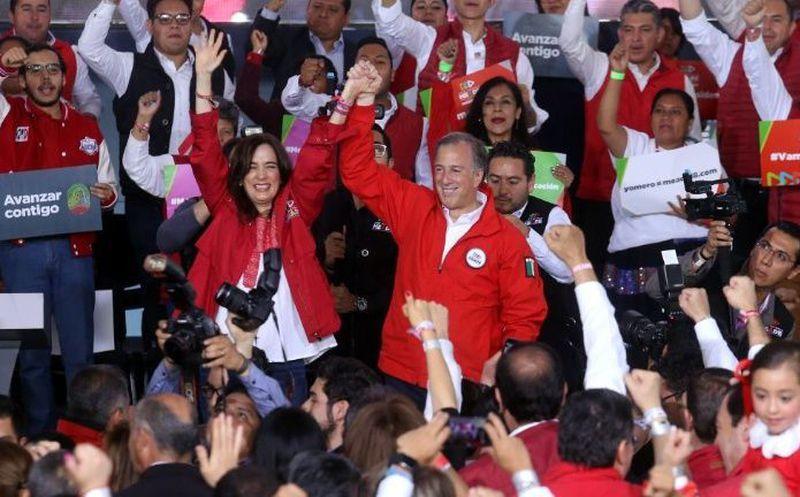 """José Antonio Meade hizo un llamado al partido para """"jugársela a muerte"""" y defender """"lo que creemos en este País"""". (Foto: Debate)"""